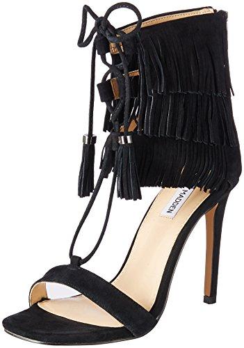 Steve Madden scarpe da donna Sandali con frange Shay - Nero-37