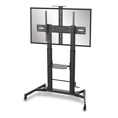conecto® LM-FS03BT Professional TV-Ständer Standfuß für Flachbildschirm LCD LED Plasma höhenverstellbar 60-100 Zoll (152-254 cm, bis 100 kg Tragkraft) max. VESA 1000x600mm, Stahl, schwarz