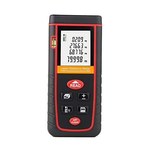 Laser Entfernungsmesser 80M, Professional Laser Distance Meter, Hohe PräZision Messen Sie Entfernung, FläChe Und Volumen,Pythagoras,RZS80