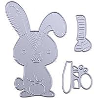 DIPOLA DIY Plantillas de Troquelado de Metal en Forma de Conejo,Repujado para Crear Álbumes