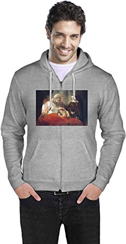 Preisvergleich Produktbild Jacob Blessing The Sons Of Joseph Rembrandt Painting Hoodie Small