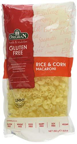 Orgran Rice and Corn Pasta Macaroni 250 g (Pack of 9)
