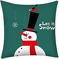 LSAltd Merry - Funda de cojín con Estampado navideño, Cierre de Cremallera Oculto, Suave, para sofá, Coche, decoración.