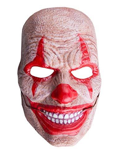 costumebakery - Kostüm Accessoires Zubehör ES Monster Clown mit beweglichem Mund, Horror Clown with Movin Mouth, perfekt für Halloween Karneval und Fasching, ()