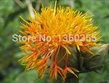 semi di fiori in vaso Carthamus tinctorius, erbe di cartamo, semi di cartamo, circa 40 particelle