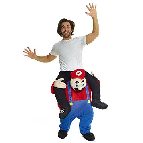 ario Super Bruder Huckepack Kostüme Tragen Mich Lustig Kleidung - Einheitsgröße ()