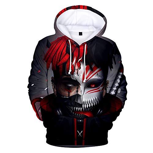 SQQZ Hoodie Hoodies für Herren Mann Sweatshirt Pullover Unisex, Mode 3D gedruckt berühmte Sänger Grafik Sweatshirts mit Kapuze mit Taschen, für Damen Kleidung - Berühmte Sänger Kostüm