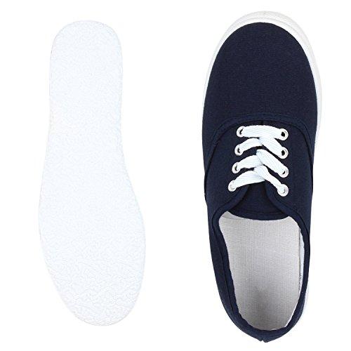 Sneaker Da Uomo E Da Donna Di Base | Compagno Comodo Per Tutti I Giorni | Comoda Suola In Gomma | Gr. 36-45 Blu Scuro