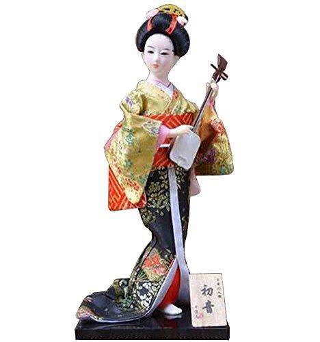 Japanische traditionelle Puppe Geisha Puppe antike japanische Puppen [E]