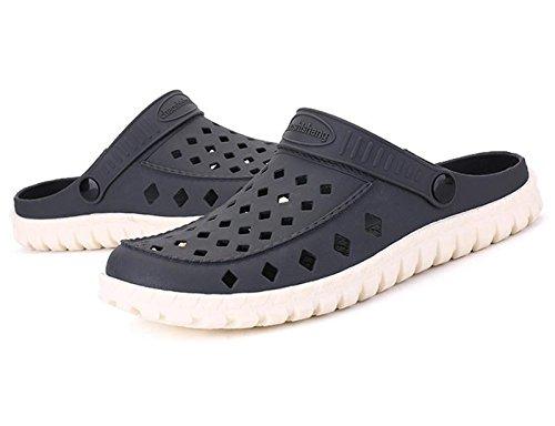 W&XY Été hommes sandales creux plage trou chaussures fond mou anti-dérapant salle de bain demi-pantoufles 41