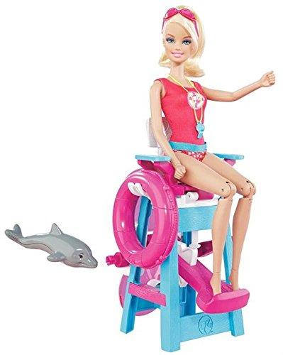 Mattel MATTEL barbie Ich ware gern Rettungsschwimmerin Spielset T9560 mit Delfinbaby