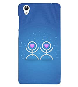 Love Couple Icon 3D Hard Polycarbonate Designer Back Case Cover for Vivo Y51 :: VivoY51L