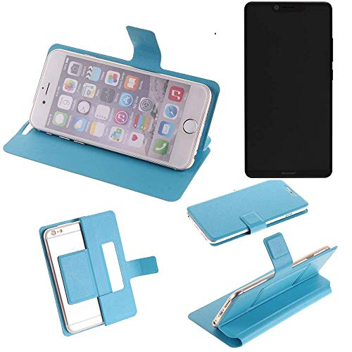 K-S-Trade Flipcover für Sharp Aquos D10 Schutz Hülle Schutzhülle Flip Cover Handy case Smartphone Handyhülle blau