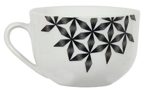 Novastyl 8012739.0 Badiane Tasse à Thé Porcelaine Noir 22 ML Lot DE 6