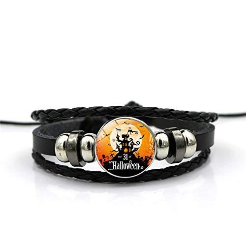 Blisfille Happy Halloween Zeit Edelstein Armband Armband Hand Link Day Damen Herren Fest (Happy Clowns Halloween)