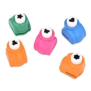 High 5 Ace Select 5 Pcs Paper Punch Set Shaper Cutter Hole Punch Scrapbook Cards Craft Photo Album DIY Festival Papers and Greeting Cards