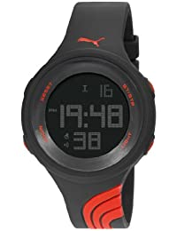 Puma Twist L Unisex Digital Watch with LCD Dial Digital Display and Black PU Strap PU911091001