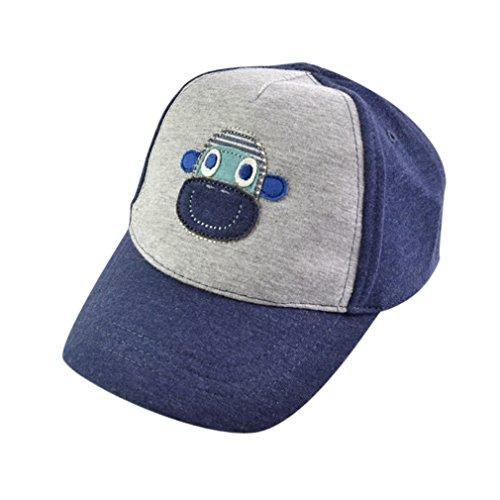 Lukis Kinder Hut Baseball Kappe Hip Hop Cap verstellbar Baseballmütze Affe 1-2 Jahr (Cap Baseball Baby)