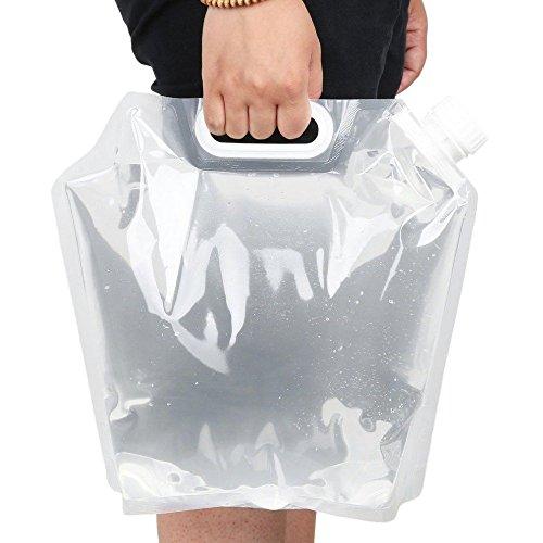 Folding Wasser Bag Carrier Container Aufbewahrung 5L, free-air Trinkwasser Tasche für Camping Wandern Picknick Grill klappbar & Clear (Klare Kunststoff-klappbare Container)