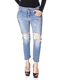 9915902cda8b Please Jeans Donna Jeans Donna P25 Vita Alta STRAPPATO Slim