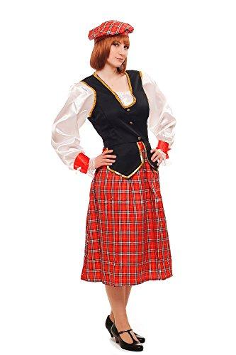 DRESS ME UP Kostüm Damen Damenkostüm Schotte Schottin Scotswoman Schottland Scot K46 Gr. 40 / M (Fancy Dress Kostüm Irland)