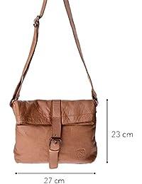 DuDu 580-1079-03 - Bolso al hombro de Piel para mujer Marrón marrón compact