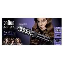 Braun Satin Hair 3 AS330 Modellatore Ad Aria Per Capelli Accessoriato Con Volumizzatore E Spazzola Rotonda Piccola