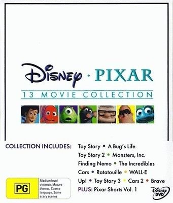 Disney Pixar Collection - 16-DVD Box Set ( Toy Story / A Bug's Life / Toy Story 2 / Monsters, Inc. / Finding Nemo / The Incredibles / Cars / Ratatouille / WALL* [ Australische Import ] (Collection Dvd Story Toy)