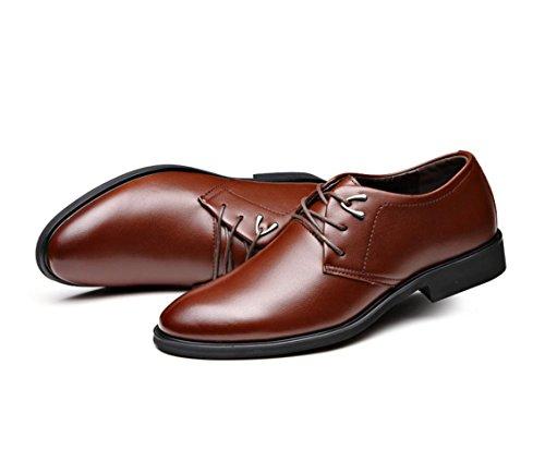 NSPX I pattini di affari di di nuovo uomini / pattini di cuoio / cuoio / cerimonia nuziale / partito / Oxford scarpe / scarpe comode di usura resistente degli uomini , 43 BROWN-38