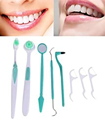 ad fresh 8 Pcs/Set Portable Dental Tooth Cleaning Washing Examine Dentist Pick