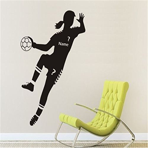 WSJIABIN WandaufkleberWandaufkleber Wallpaper Sport Handballer Wallpaper 57x120cm