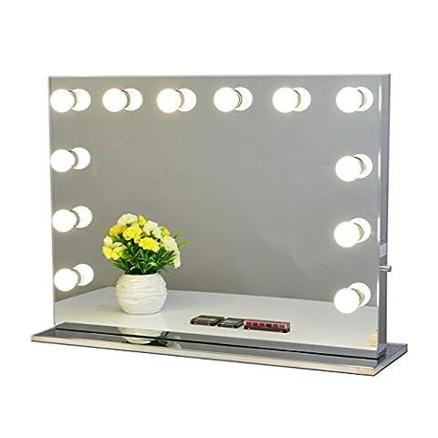 Chende Rahmenlos Hollywood Schminkspiegel mit Beleuchtung Bühne Kosmetikspiegel, Schönheit Theaterspiegel