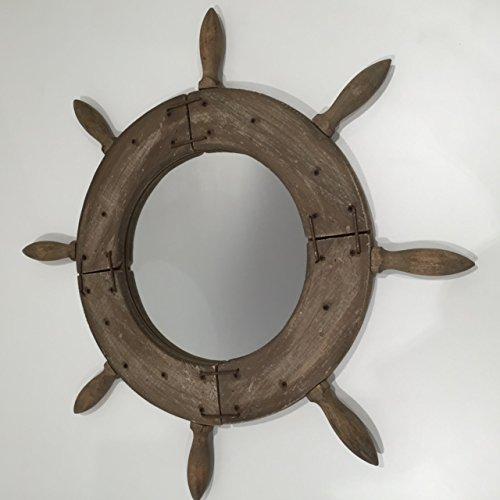 Wooden-Ships-WheelHelm-espejo-rstico-Shabby-Chic-nutica-decoracin-del-hogar