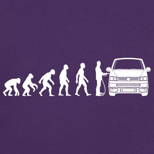 Evolution of Man VW T5 - Damen T-Shirt - 14 Farben Lila