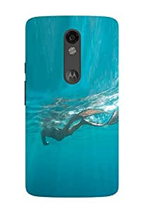 Accedere Printed Back Cover Case for Motorola Moto X Force