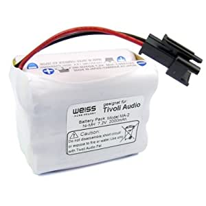 WEISS Replacement Battery 2000 mAh like MA-1/MA-2/MA-3 for Tivoli PAL/IPAL