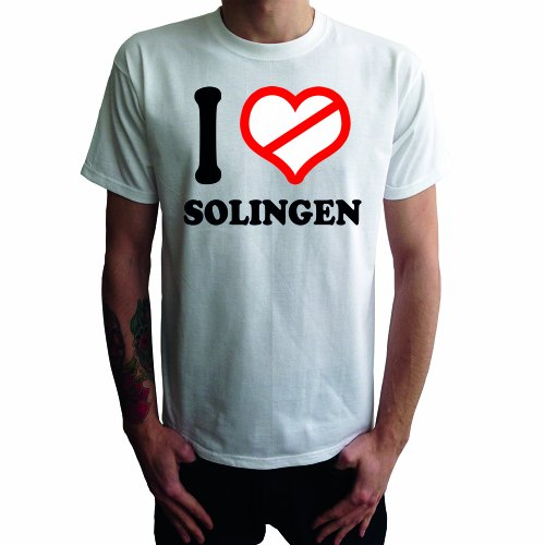 I don't love Solingen Herren T-Shirt Weiß