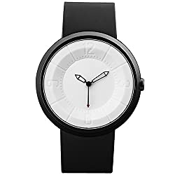 Futuristic Style Mens Womens Outdoor Watch stainless Steel Case White Dial Analog Sport Quartz Wristwatch