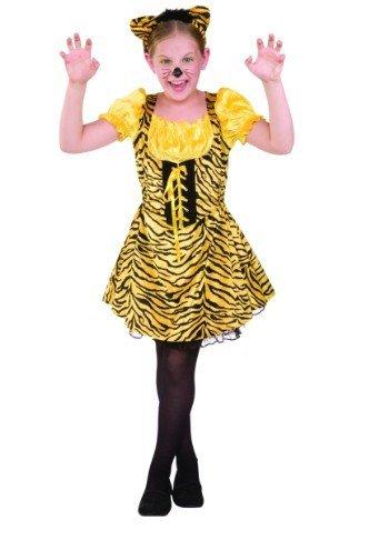 Juniors Sassy Tiger Costume (Tiger;Small)