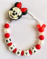 Minnie Disney CATENINA portaciuccio in silicone personalizzata con qualsiasi nome