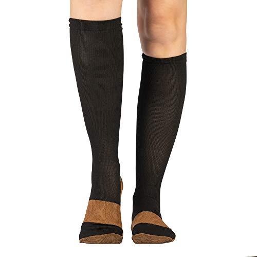 Calcetines de compresion (par) Medias diseñadas para mejorar la circulacion, reducir la hinchazón, aiviar los síntomas de varices reducir la fatiga y energizar pies y piernas cansadas | Unisex