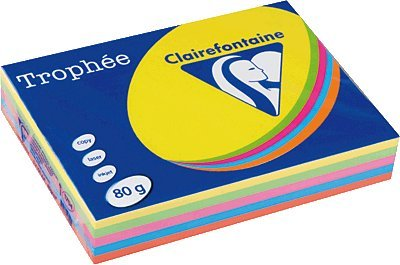 Clairefontaine Rame Rodeco A4couleurs intenses et assorties VE = 5x 100feuilles
