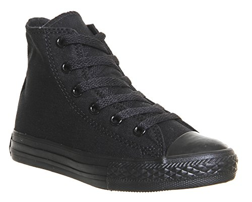 Converse Shoes - Converse Chuck Taylor All Star Youth Classic Hi Canvas Trainers - Black Monochrome Black