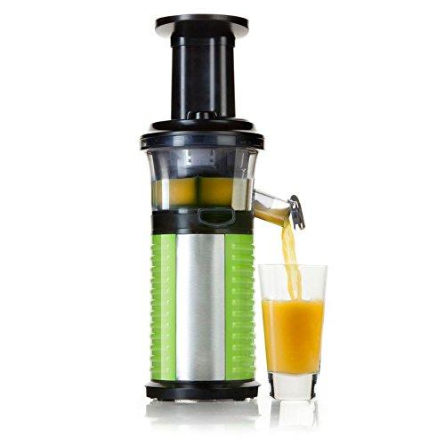 Profi Fruchtpresse + Gemüsepresse BPA-Frei, Slow-Juicer für MEHR Vitamine, MEHR Geschmack, MEHR Saft, spezielles Presssystem – Geschwindigkeit: 60 Umdrehungen pro Minute - 2