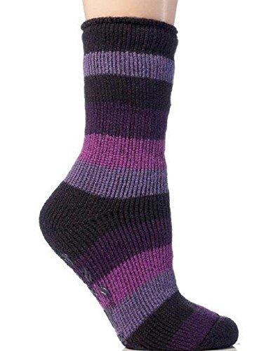 Weri Spezials Children High ABS terry Socks Purple Design:ballet Shoes