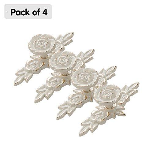 Zhi jin 4pcs retro bianco armadietto con backplates cassetto tira manopola mobili decorativi, 8208-xk
