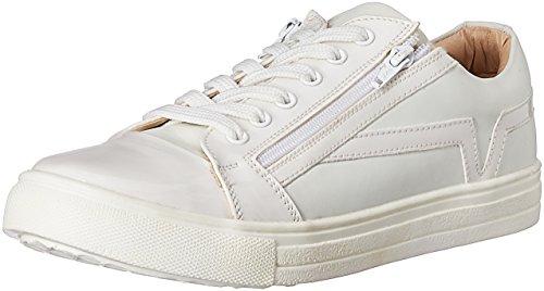 Franco Leone Men's White Sneakers - 9 UK/India (43 EU)