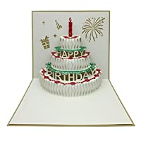 "WYXlink 1PCS 3D Pop Up Cards Valentine Lover Happy Birthday Anniversary Greeting Cards (F, About 15 X 15cm/5.9""X5.9"")"