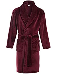 a617b04e00 Slumber Hut® Mens Fleece Dressing Gown Luxury Robe Snuggle Winter Warm - Unique  Colours -