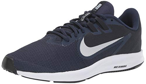 Nike Downshifter 9, Zapatillas de Running para Asfalto para Hombre, Multicolor Midnight Navy/Pure Platinum...